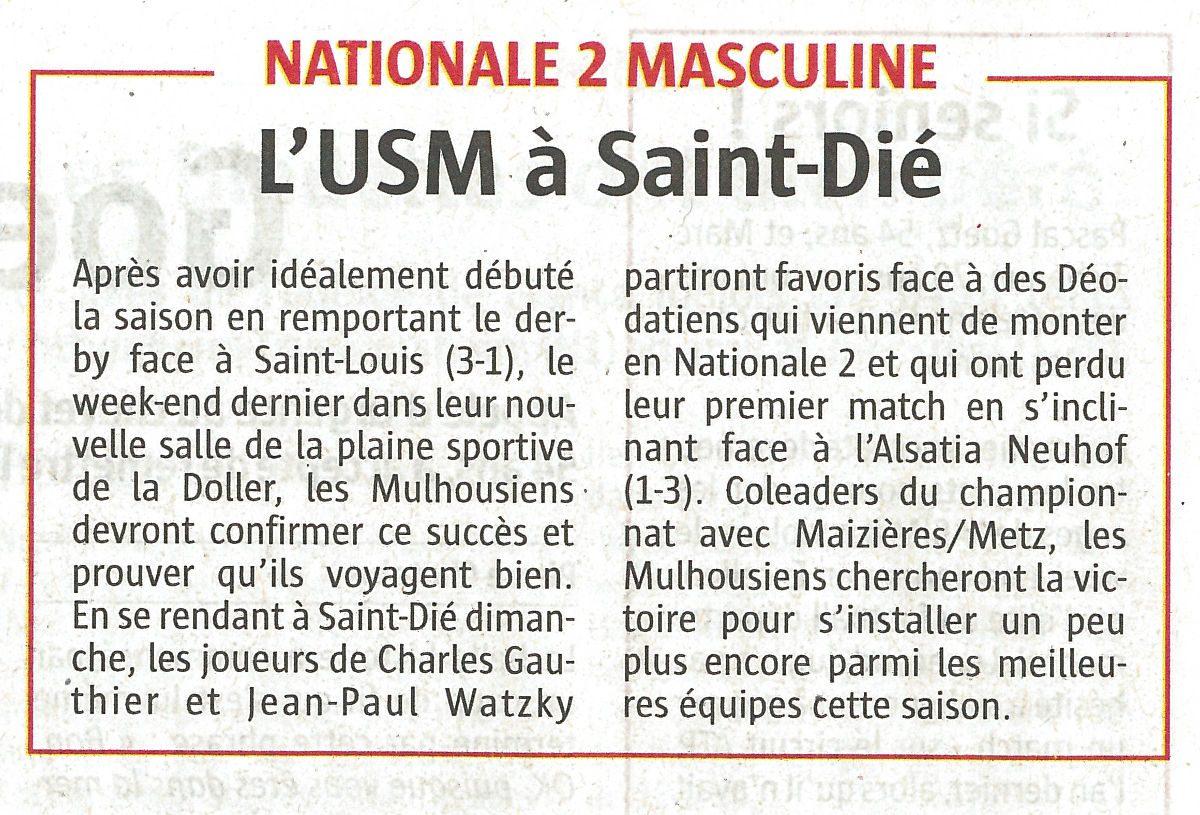 L'USM à Saint-Dié