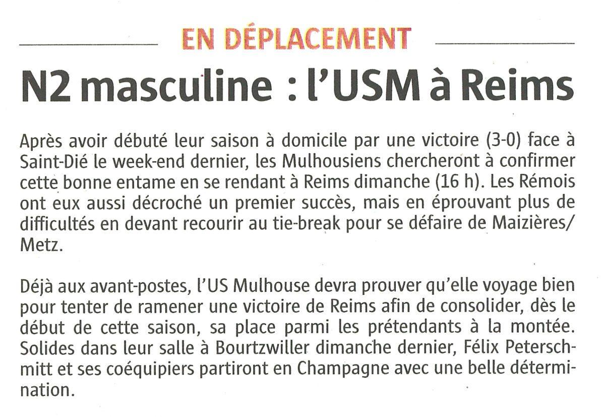 L'USM à Reims
