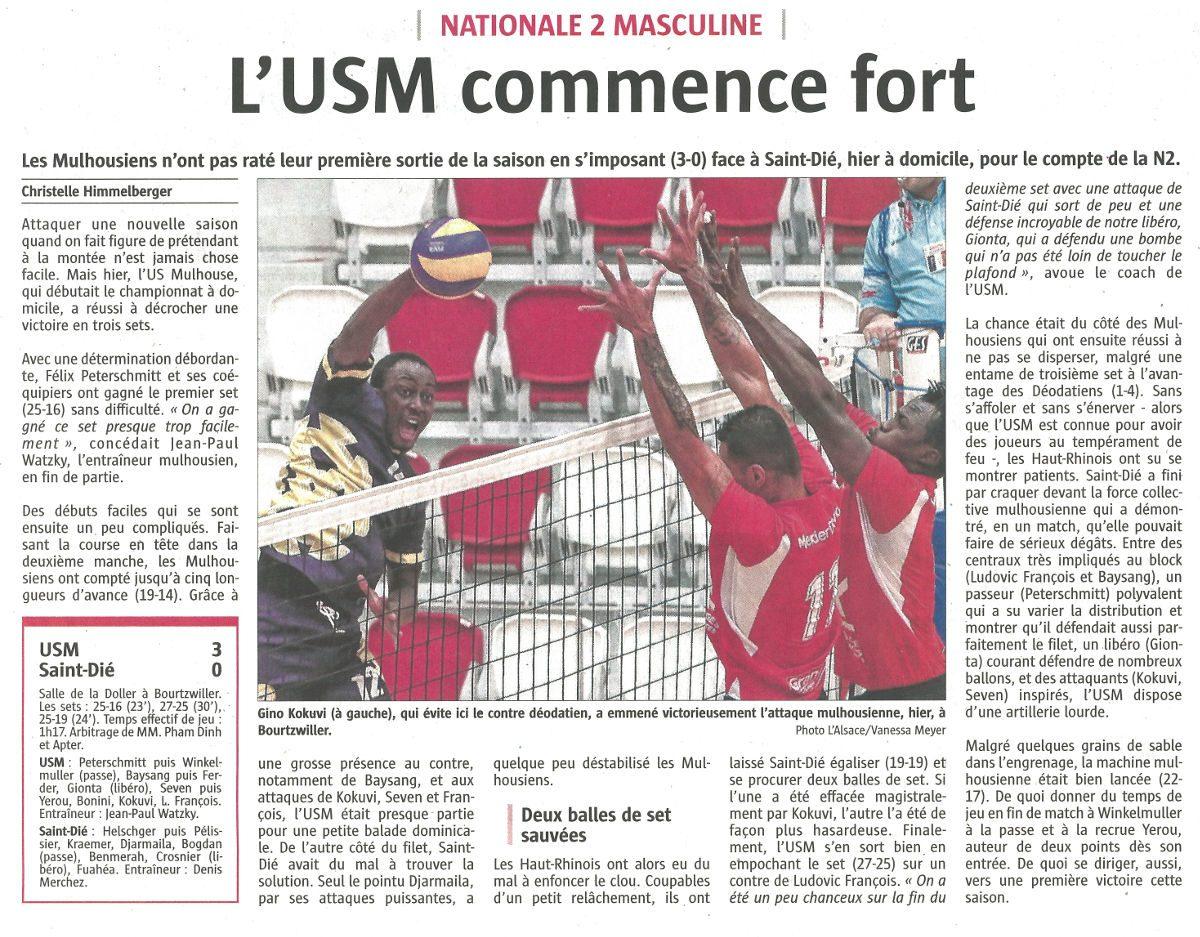 L'USM commence fort